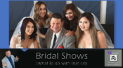 Money After Bridal Show, What to do with the list.